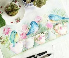 Lovely watercolour picture be #esterpeck