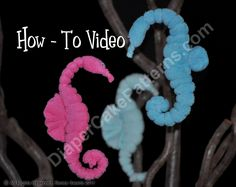 How to Make a Washcloth Seahorse Diaper Cake Decoration Video