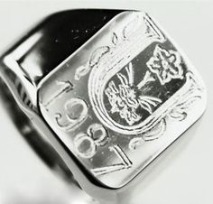 """Siegelring Wappenring Monogramm """"individuell"""""""