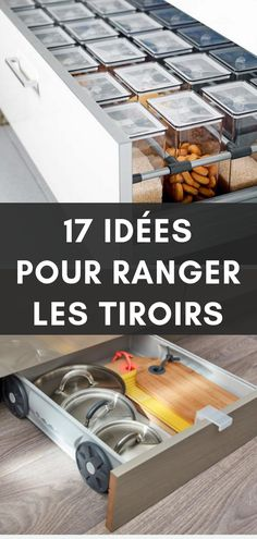 Prenez le contrôle de vos tiroirs 17 ideas and tips to regain control over your drawers! Tips for storing and organizing drawers in all rooms of the house. Handmade Home, Organizing Hacks, Organization, Boho Home, Ranger, Home Interior Design, Drawers, Sweet Home, Storage