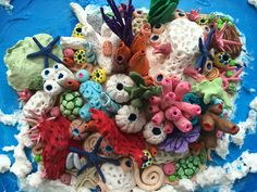 My 3D sculpture.  Coral reef made from clay!