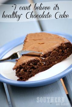 Healthy Chocolate Cake - Vegan, Gluten Free, Low Fat, Low Calorie