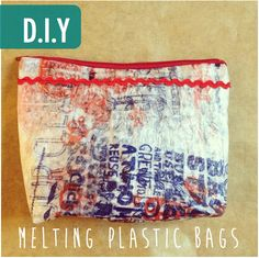 DIY Material from melted plastic bags