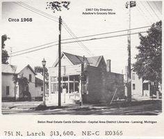 https://flic.kr/p/MCPcNa | Adadow grocery store-former-751 N. Larch St.-real estate card photo-1968-10-20-Lansing, MI