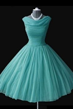 Cool Prom Dresses Vintage prom dress, blue chiffon short dress for prom 2017... Check more at http://mydresses.ml/fashion/prom-dresses-vintage-prom-dress-blue-chiffon-short-dress-for-prom-2017-2/