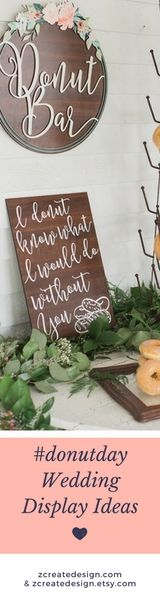 Handcrafted Wedding Donut & Dessert Signs from the Ultimate Resource for Wedding Decor!