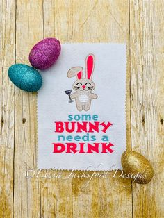 Bunny Needs A Drink Sketch Embroidery Design 3 SIZES Embroidery Files, Machine Embroidery, Embroidery Designs, Design Files, My Design, Hostess Gifts, Cool Gifts, Bunny, Sketch