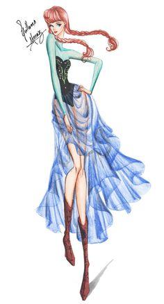 Princesas Fashion por Guillermo Meraz - Anna.