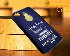Harry Potter Quote Happiness iPhone 4 4S iPhone 5 5S 5C and Samsung Galaxy S3 S4 Case