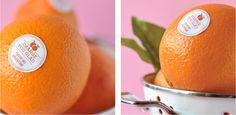 DIY Valentine Fruit Stickers Orange