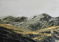 """Conrad Jon Godly, """"Ot"""", oil on linen, His paint is amazingly thick … - Best Painting Acrylic 2019 Watercolor Landscape, Landscape Art, Landscape Paintings, Landscapes, Modern Art Paintings, Paintings I Love, Conrad Jon Godly, Mountain Paintings, Monochrom"""