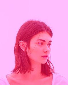 adaolivia.tumblr • ali portrait rose (pink)