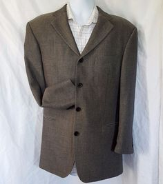 Hugo Boss Suit Coat Jacket Mens 40S Wool Sokrates 4 button #HUGOBOSS #FourButton