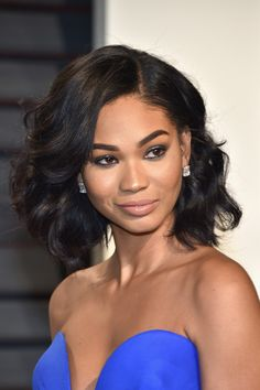 Chanel Iman Diamond Studs - Chanel Iman completed her look with a pair of emerald-cut diamond studs by Neil Lane.