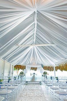 Religious Catholic Ceremony in covered beach house - Palapa, in Kukua Punta Cana| Design Begokua| Photo by Milan Photo Cine Art