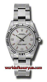 177234-SPIO - This Rolex Oyster Perpetual No-Date Mid-Size Mens Watch, 177234-SPIO features 31 mm Stainless Steel case, Silver dial, Sapphire crystal, Fixed bezel, and a Stainless Steel bracelet. Rolex Oyster Perpetual No-Date Mid-Size Mens Watch, 177234-SPIO also features Automatic movement, Analog display. This watch is water resistant up to 30m/100ft. - See more at: http://www.worldofluxuryus.com/watches/Rolex/No-Date/177234-SPIO/641_802_6410.php#sthash.8DuCa0ZP.dpuf