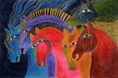 """Wild Horses"" par Laurel Burch"