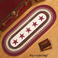 Country Star Primitive Braided Rug