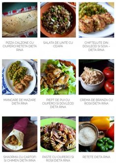 Retete Dieta Rina Wrap Recipes, Diet Recipes, Cooking Recipes, Healthy Recipes, Recipies, Rina Diet, Protein Diets, Food And Drink, Health Fitness