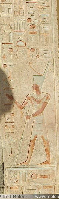 10 Bas-relief showing pharaoh  Temple of Hatshepsut