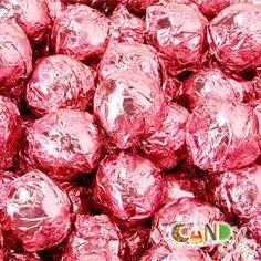 Truffles Milk Chocolate Champagne - Pink Foil: 1 lb