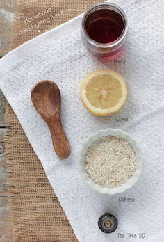 homemade honey oatmeal acne fighting face mask