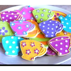 Tea cups and tea pots for a Mad Hatter baby shower.   Facebook.com/thesweetestobsession