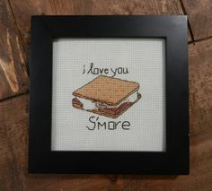 I Love You S'more  Counted Cross Stitch PATTERN by CampCrossStitch, $5.00