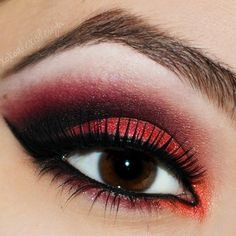 Cardinal Red eyeshadow makeup