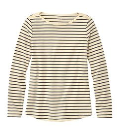 Find the best Women's Pima Cotton Shaped Tee, Long-Sleeve Boatneck Stripe at L. Our high quality Women's Shirts and Tops are thoughtfully designed and built to last season after season. Curvy Outfits, Trendy Outfits, Nautical Outfits, Nautical Stripes, Neutral Outfit, Striped Tee, Boat Neck, Amazing Women, Long Sleeve Tops
