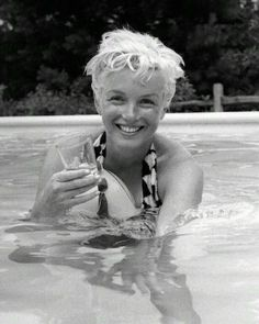 I love this photo of Marilyn taken by Milton Greene at his home in 1955 - she is so relaxed & is being her real self.