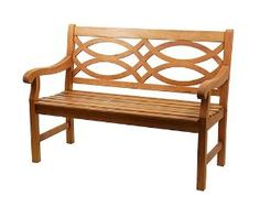 Hennell Garden Bench in a Natural Oiled Finish from www.wellappointedhouse.com