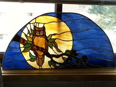 Owl - Harvest Moon - Delphi Stained Glass