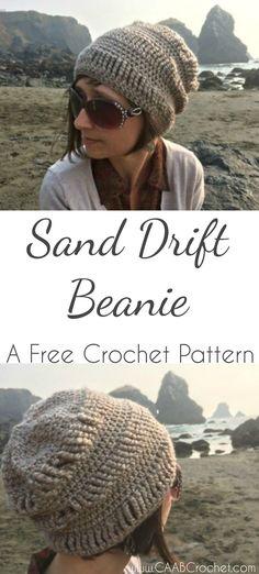 Crochet Beanie Pattern | Free Crochet Pattern | Slouchy Hat Pattern