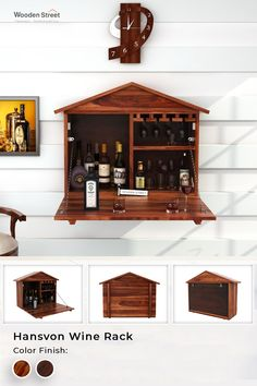 Hansvon house. Sporting a house-like structure, Hansvon wine rack is perfect for all the small spaces. Being drawn out, it serves you enough space to store your collection while being pulled back, it will form back the house shape. #woodenstreet #furniture #furniturebondedwithlove #MakeinIndia #barcabinets #bartrolleys #winedine #winestorage #winelover #barfurniture Bar Furniture, Living Room Furniture, Teak, Wooden Street, Wine Storage, Wine Rack, Liquor Cabinet, Small Spaces, New Homes