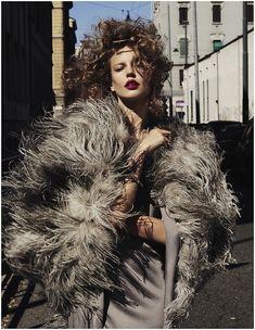 Elisabeth Erm by Driu & Tiago for Vogue Ukraine December 2014 | The Fashionography