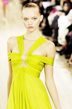 Neon evening gown that is bright and fabulous!
