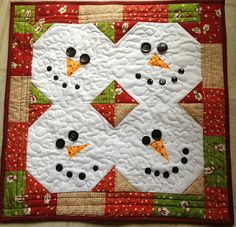Snowman Wall Quilt or Table Runner