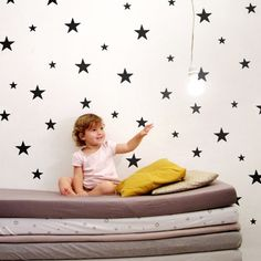 These sharp, black matte star wall stickers by Tayo Studio will add something to wish upon in any space!