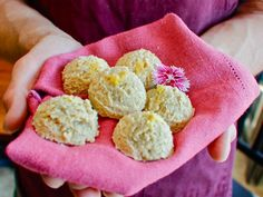 Raw coconut lemon pie macaroons- Healthy! (Could use cashew flour from TJ's(