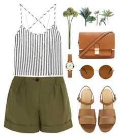 """""""Untitled #141"""" by omgrachelllll on Polyvore featuring Kain, Burberry, Forever 21, Timex and Adina Reyter"""