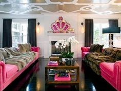 Every woman cave needs some music. HiFi Stereo and home theater design available at Clear Audio Design in Charleston, WV. Phone Because life should sound beautiful! Pink Velvet Sofa, Velvet Tufted Sofa, Pink Couch, My Living Room, Living Spaces, Hangout Room, Teen Hangout, Woman Cave, Girl Cave