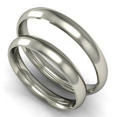 Klasszikus karikagyűrű pár 2,5mm fehér domború