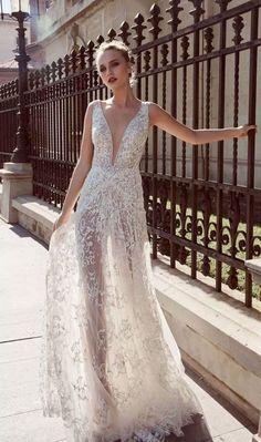 Sleeveless v neckline embellishment A line Wedding Dress : Miriams Bride 2018 wedding dresses #wedding #weddingdress #weddinggown #bridalgown