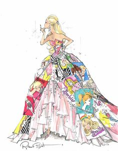 this is a pic of an actual barbie but i would so wear this dress.