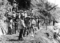 chinese rail way workers in Canada and San Francisco in mid 19th century.