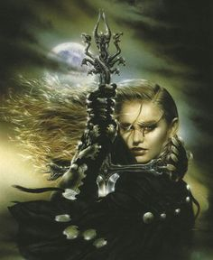 Luis Royo is a Spanish artist, known for his sensual and dark paintings, his fantasy worlds and mechanical life forms. Royo has produced paintings, Dark Fantasy Art, Fantasy Women, Dark Paintings, Fantasy Paintings, Fantasy Artwork, Apocalypse, Metallica, Science Fiction, Illustration Fantasy