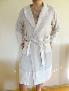 Turkish Bathrobe Men Bathrobe Organic Eco by OttomanBazaars Bath Robes 938b913a8