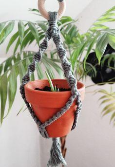 Plant Hanger, Macrame, Knots, Photo And Video, Plants, Instagram, Plant, Buttons, Planets