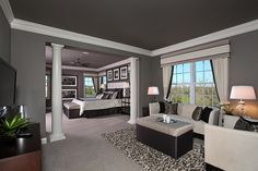 Toll Brothers - The Harding master bedroom